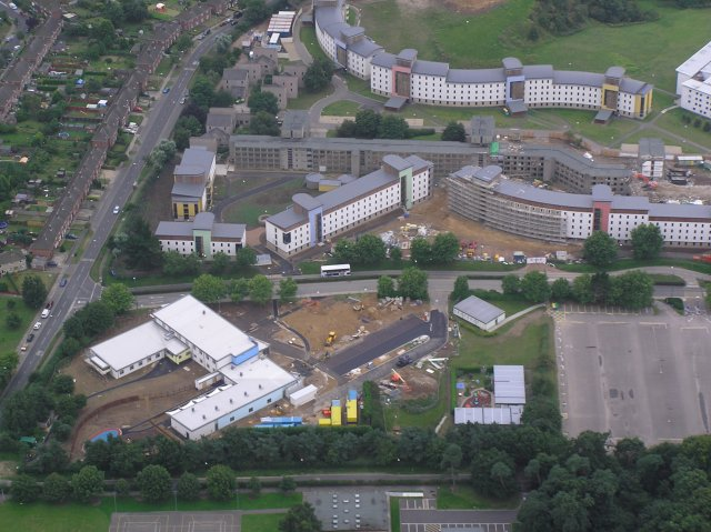 Student residences, University of East Anglia (aerial)