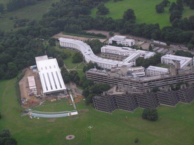 Sainsbury Centre for Visual Arts, University of East Anglia (aerial)