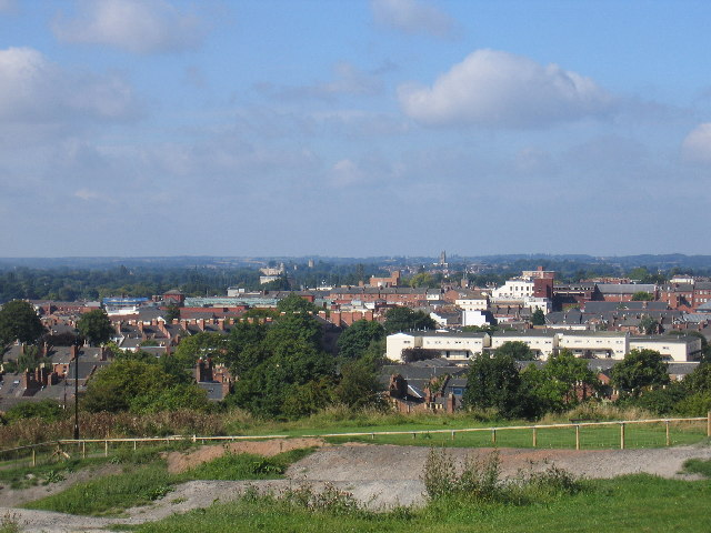 Royal Leamington Spa from the Campion Hills