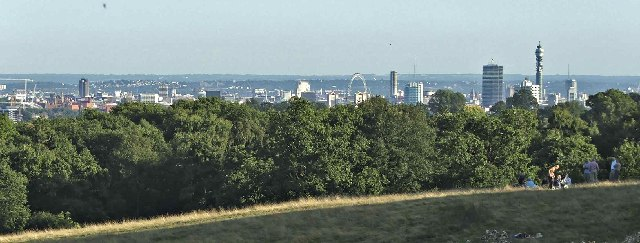 London Skyline from Hampstead near Kenwood