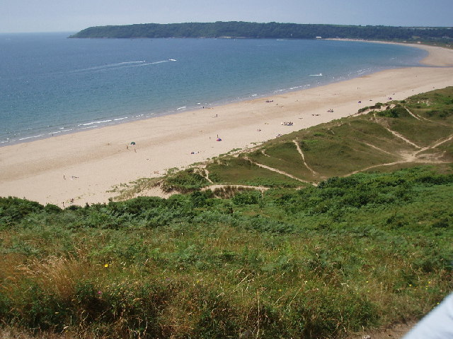 Nicholaston Burrows looking towards Oxwich
