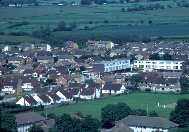 Lower Willingdon from the Downs