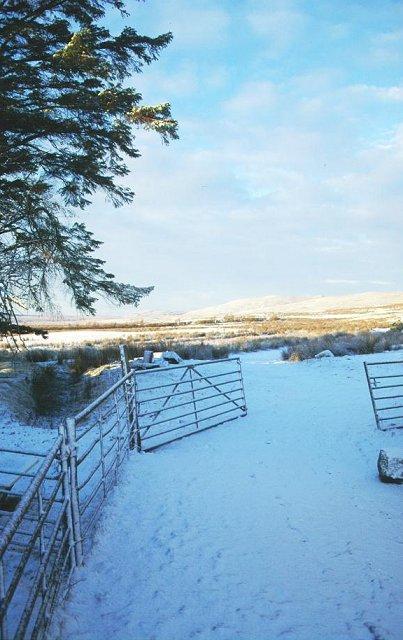 Achnaluachrach in Winter.
