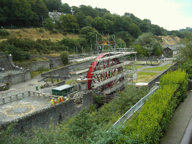 Rebuilding the Snaefell Wheel, Laxey