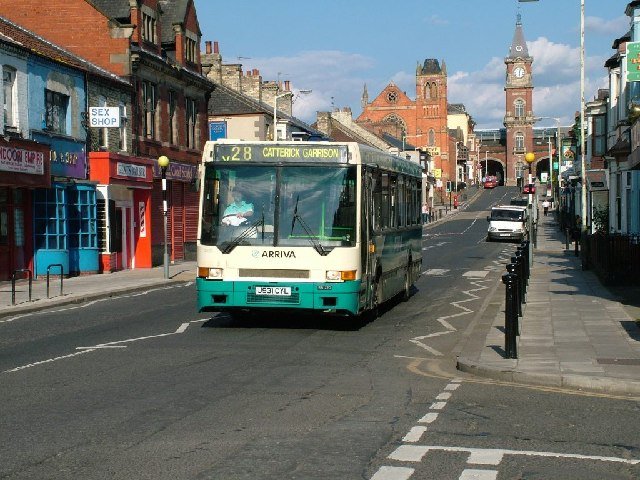 Arriva DAF bus, Victoria Road, Darlington