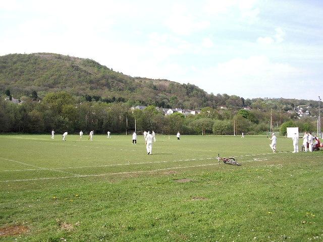 Cricket on Pontardawe Recreation Ground