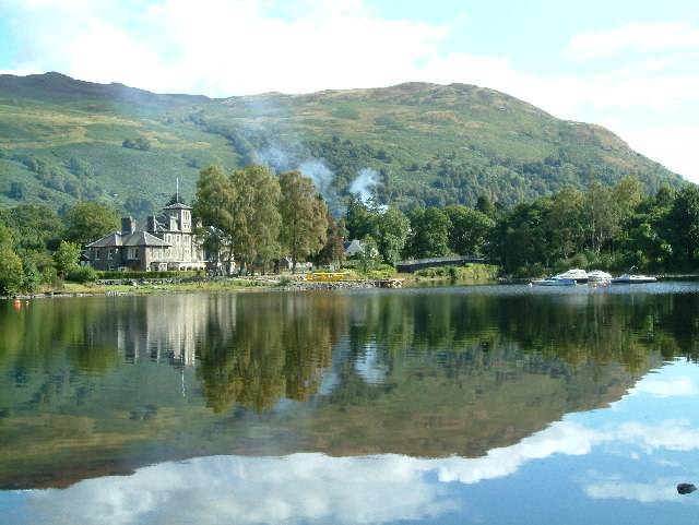 St Fillans from the southern bank of Loch Earn