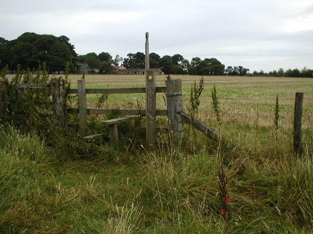 Stile, High Baxton's Farm