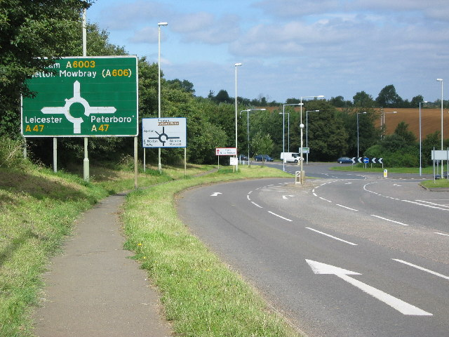 Roundabout on A47, Uppingham