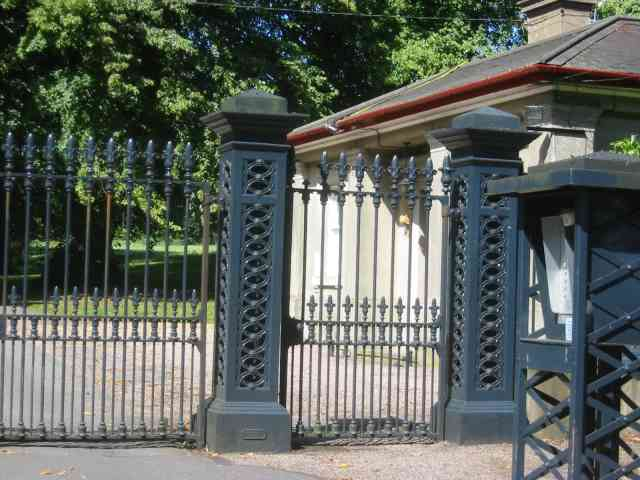 Gates to drive to  Lady Bute's Lodge