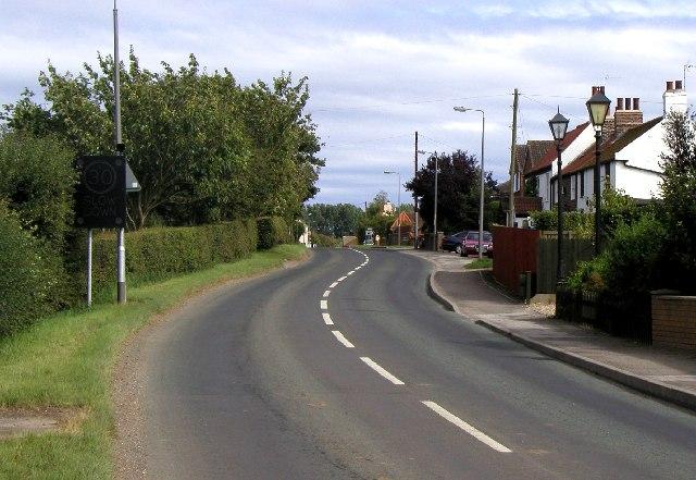 Burton Pidsea main road