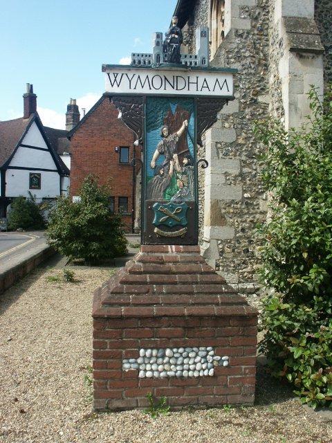 Town sign, Wymondham
