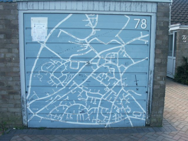 Garage door map, Wymondham