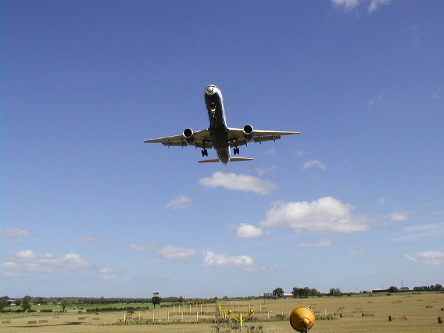 Newcastle airport approach