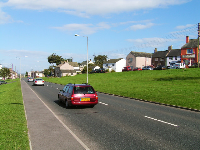 The A596(T) at Crosby