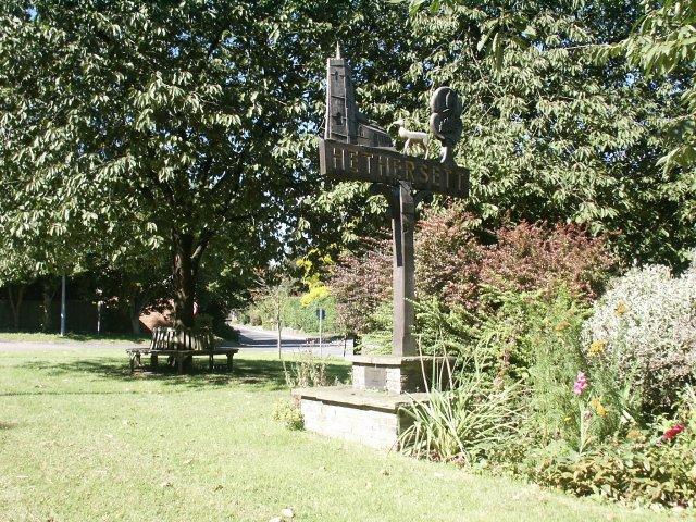Village sign, Hethersett