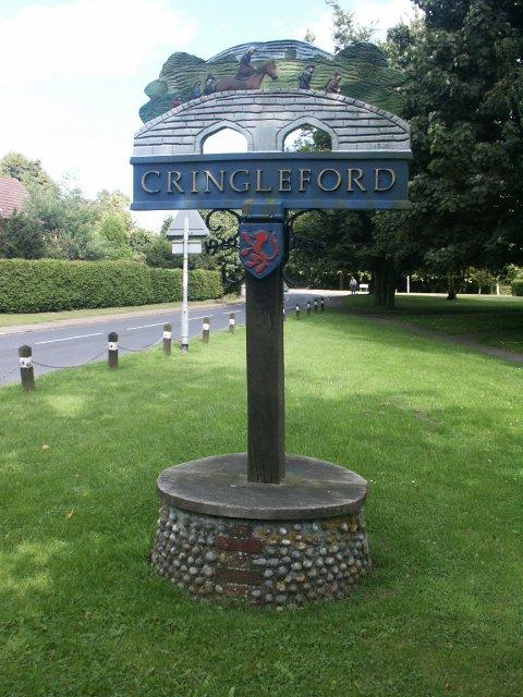 Village sign, Cringleford
