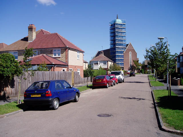 Chesterfield Road and St George's Church, Chesterton