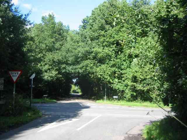 Cross Roads at  Gustard Wood