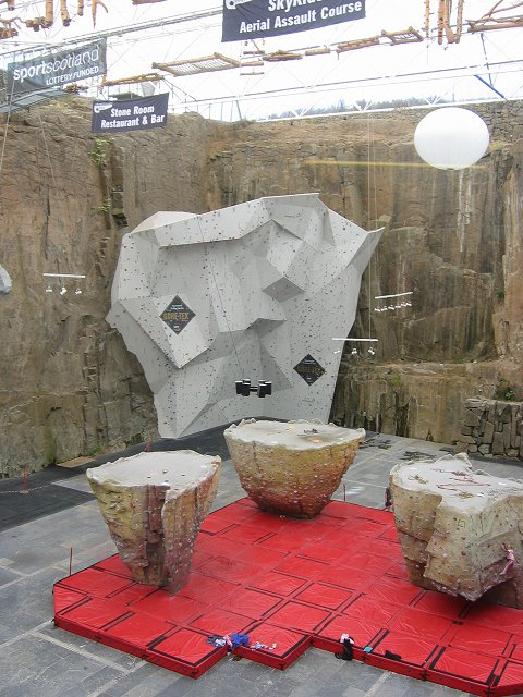 Ratho climbing wall.