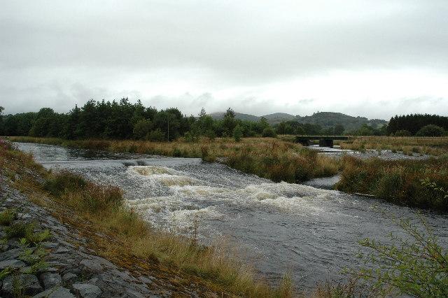 Weir on Afon Tryweryn