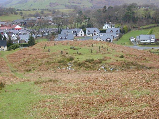 Gorsedd Circle east of Machynlleth