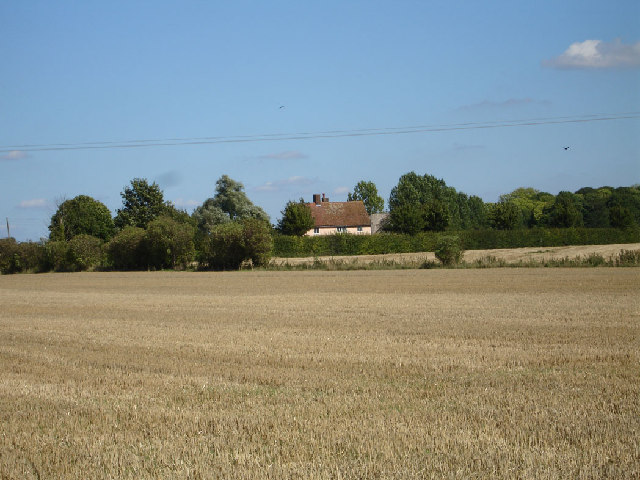 Cottage over the fields near Ashwell.