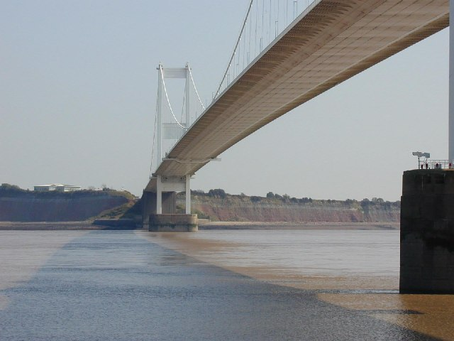 Severn Bridge from below