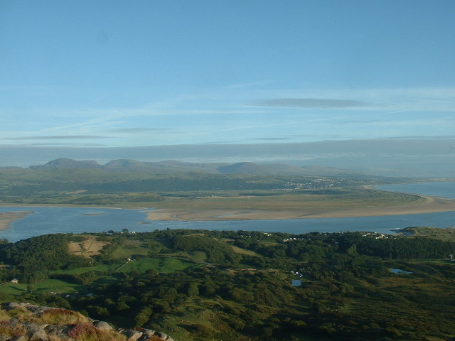 Harlech view from Moel y Gest summit