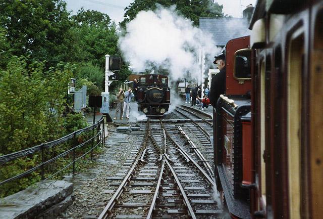 Ffestiniog railway at Minffordd