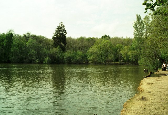 Lake at Brokerswood Country Park