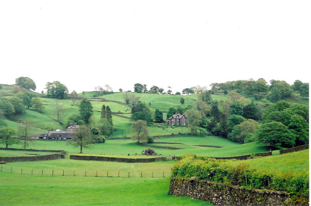 View from Gate of Hill Top Farm, Near Sawrey, Cumbria