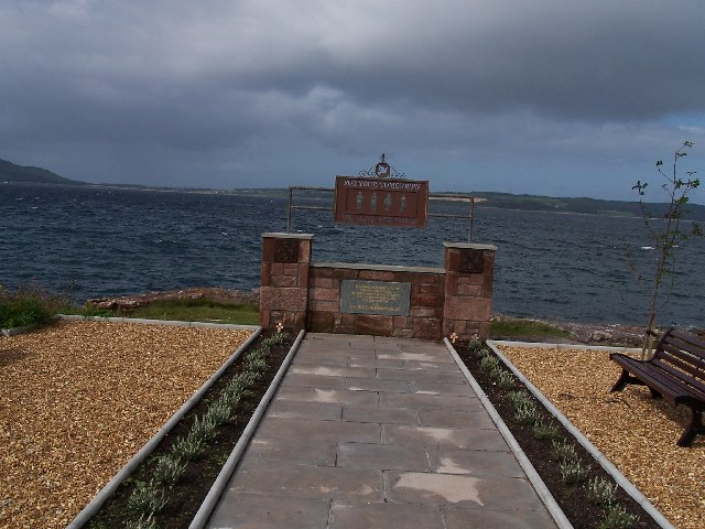 Cumbrae, New Memorial at Sheriff's point