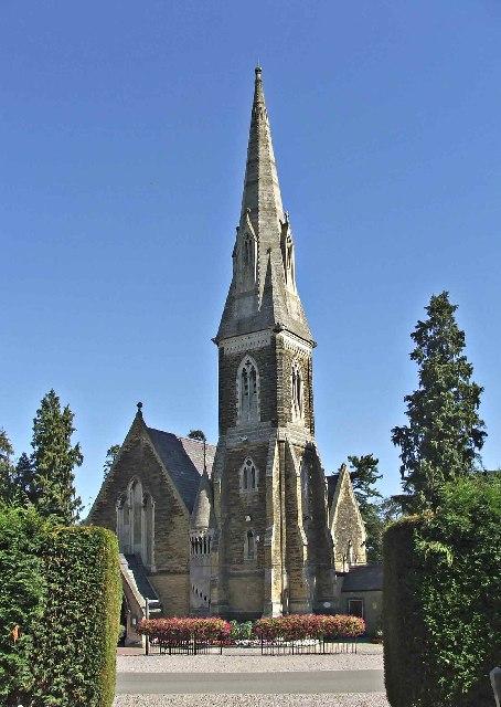 Chapel at  Brunswick Park Cemetery