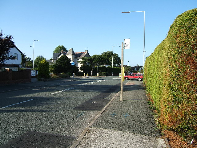 Mini-roundabout at Newton