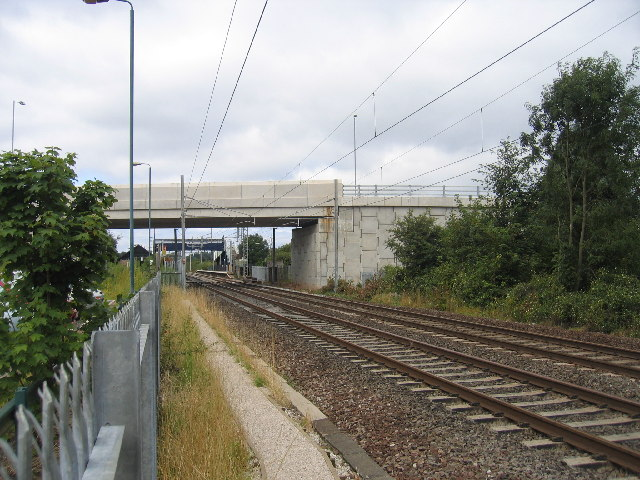 Tile Hill Station and new bridge