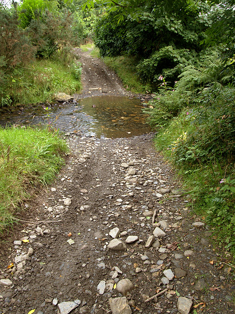 Ford on the old Slieu Whallian Road.  Isle of Man.