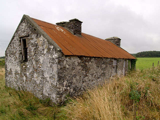Disused cottage, Archallagan.   Isle of Man.