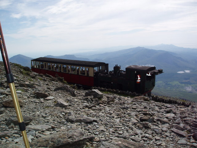 Snowdon Mountain Railway Near Summit