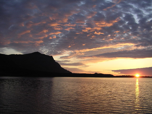 Sunset over Fionn Loch