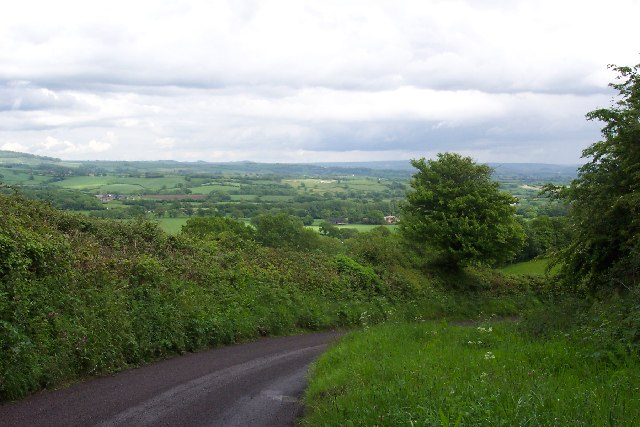 Looking back over the Marshwood Vale