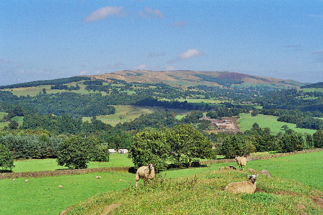 From Dean Lane, Bowley, looking NW to Pendle Hill