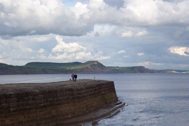 The Golden Cap from Lyme Regis