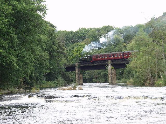 The Llangollen Railway crosses Afon Dyfrdwy at Pentre Felin