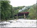 SJ2043 : The Llangollen Railway crosses Afon Dyfrdwy at Pentre Felin by John Haynes
