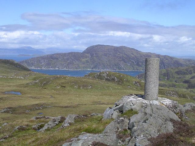 Triangulation pillar on Cruach na Seilcheig