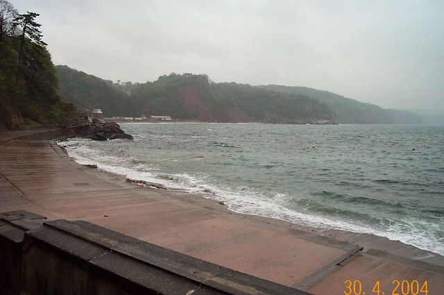 Bad weather at Babbacombe beach