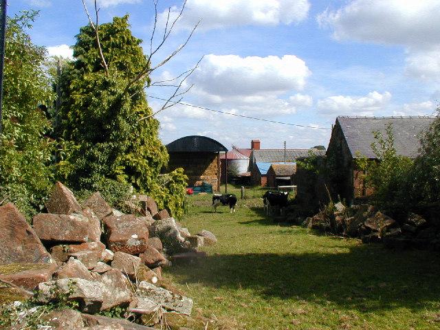 Farmyard of Church Farm, Myddle