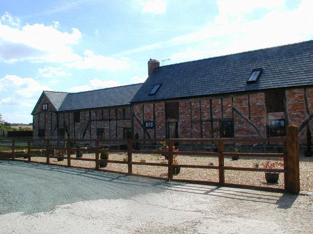 Converted timber-framed barns