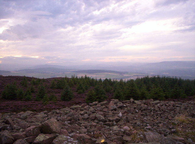 View From Triangulation Pillar - Cairn Mon Earn